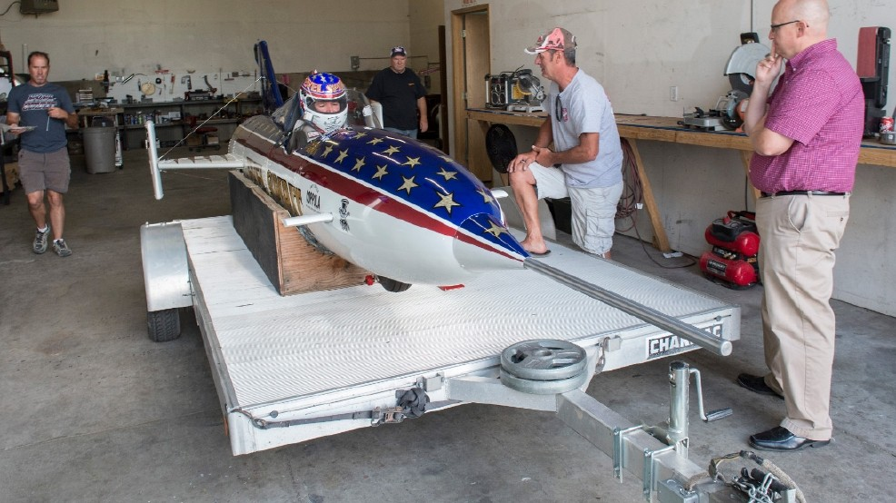 Daredevil readies for rocket launch over Idaho's Snake River