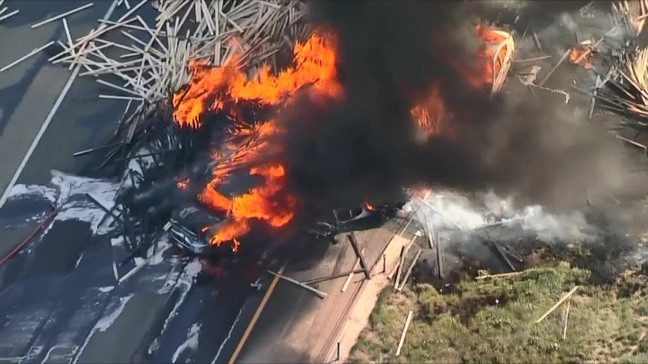 Multiple killed in fiery wreck involving dozens of cars along