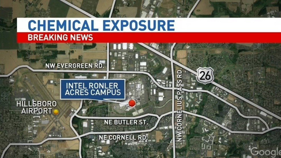 Intel Campus Map.11 Taken To Hospital After Possible Chemical Exposure At Intel S