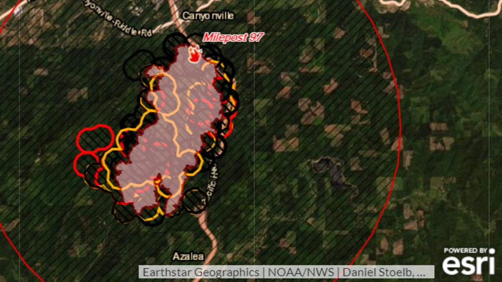 Us 97 Milepost Map Where is the Milepost 97 Fire burning? INTERACTIVE MAP | KPIC